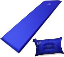 Selbstaufblasbare Luftmatratze u. Luftkissen, selbstaufblasend, Isomatte, Kissen