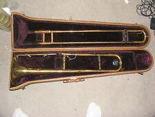 Vintage F.E. OLDS & SON AMBASSADOR  Trombone With Case