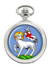 Paschal Lamb of God Christian Pocket Watch