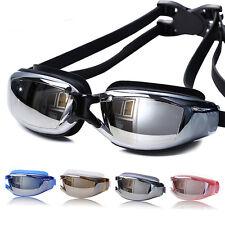 Profesional Adulto Impermeable antivaho UV Protección Natación Gafas Goggles
