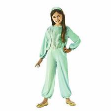 Kids Girls Green Gypsy Dancer Halloween Costume Sequin Jumpsuit Headband S M L