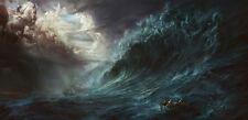 Home Decor art fantasy Poseidon oil painting Modern Print picture on canvas Ani2