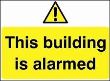 Questo edificio è allarmata sicurezza segno, Impermeabile, Adesivi / Adesivo, PVC