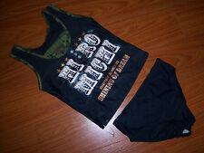 GIRLS HIROMICHI Nakano Black Swimsuit Swimwear Size 6-8 NEW