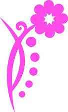 Pink Daisy Flower Car, Camper Van Window Sticker ~3