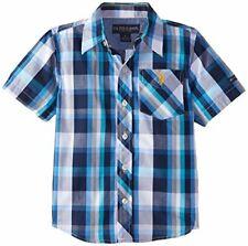 U.S. Polo Assn. Boys' Short Sleeve Plaid Woven Shirt, New  MSRP$30.00