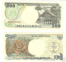 INDONESIA GEM UNC 500 RUPIAH~ORANGUTAN~JUNGLE~AWESOME~FREE SHIPPING~