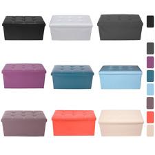 Mobili Rebecca® Pouf Contenitore Baule 8 Colori Moderno Arredo Salotto Camera