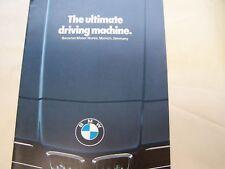1982 BMW  320i, 528i, 733i, 633CSi BMW SALES BROCHURE