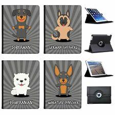 German Cartoon Dogs Folio Cover Leather Case For Apple iPad