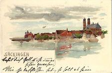 Säckingen - Litho-Künstlerkarte um 1900