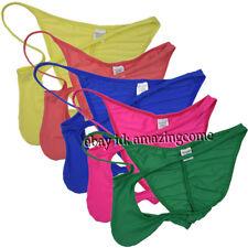 Men Ice Silk Pouched Rio Ruche Bikini Brief Underwear Lowrise Exotic Booty Short