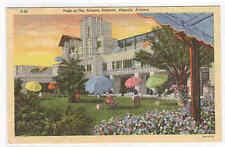 Patio Arizona Biltmore Phoenix AZ Roadside America 1950 linen postcard
