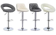 Tabourets cuisine lot de 2 en PU réglable chaise pivotant 360° Crème / Gris f042