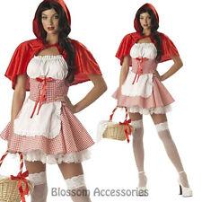 K280 Ladies Red Riding Hood Fairy Tale Book Week Fancy Dress Halloween Costume