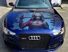 Car Hood Side Window Full Color Graphics Vinyl Sticker Harley Quinn Decal