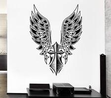Wall Decal Cross Angel Wings Freedom Swing Mural Vinyl Stickers (ed036)