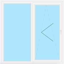 veka PSK parallel-schiebe-kipp-tür 82 MD, verre 0,5 Blanc