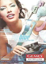 PUBLICITE ADVERTISING 2004 GEMEY MAYBELLINE FlyBlue Foncez c'est le Printemps
