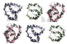 26 Heads Beautiful FRANGIPANI Artificial Flower Garlands With Green Leafs 2.1met
