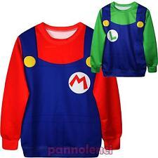 Maglia donna costume carnevale videogames Super Mario travestimento DL-1518