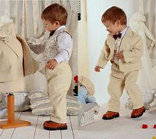 ABITO vestito BATTESIMO VELLUTO beige BATTESIMO taglia 2 mesi-3 anni cod 322