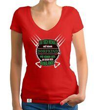 Damen T-Shirt V-Ausschnitt - Leg dich nie mit Dorfkindern an - Heimat Herkunft
