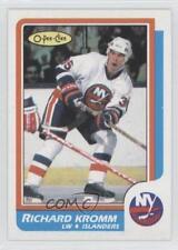 1986-87 O-Pee-Chee Blank Back #N/A Richard Kromm New York Islanders Hockey Card