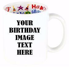 Personalized Coffee Mug Custom Photo Text Logo Name Printed Gift - 11oz/ 15oz