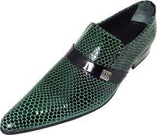 Original Chelsy - Italienischer Designer Party Slipper Netzmuster schwarz grün