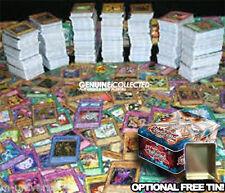 100 Assorted Common Yugioh Cards | English & Genuine, Optional FREE storage tin
