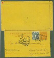 Regno.Biglietto post. da cent. 20 da Napoli x Germania