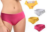 2 pcs. sexy Panties Bragas Slip caderas monocromo uni pink amarillo blanco