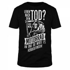 Leben nach dem Tod Motorrad Skull Harley Chopper Biker Statement Fun Shirt
