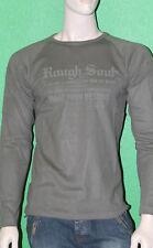 RG512 Men's 100% Cotton Khaki Green Rough Soul Graphic Shirt W27148 Sz L NEW