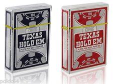 2 Jeux de 52 cartes POKER COPAG SILVER Edition 100% plastique Noir Rouge 4corner