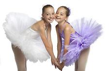 Professional color tutu per balletto. ROSA, LILLA, BIANCO, GIALLO, VIOLA 3,4,5,6,7,8,9,10 Anni