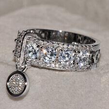 Damen Fingerring Edelstahl Kristall Ringe Strassringe Eingelegter Zirkonring Neu