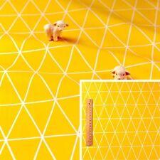 160cm YELLOW Meter/Fat Quarter/FQ Cotton Fabric Geometric Triangle Sewing Craft