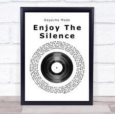 Enjoy The Silence Vinyl Record Song Lyric Quote Print