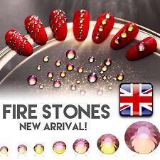 FIRE STONES RHINESTONES CRYSTAL PIXIE 3D NAIL ART SALOON MINI DIAMOND ROSE GOLD