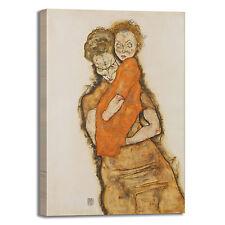 Schiele madre e figlio design quadro stampa tela dipinto telaio arredo casa