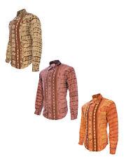 Men's Microfiber Shirt Crocodrile Design Long Sleeve