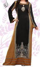 "VERY LONG DRESS CAFTAN | INDIAN KAFTAN | 57"" LONG DRESS | FREE SHIP | IMN-GLD"