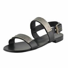 "Giuseppe Zanotti Homme ""ZAK"" Black Leather Sandals Shoes Sz 6 7 8 9 10 11 12 13"
