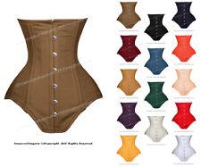 Heavy duty 26 double taille baleiné acier formation coton underbust corset #8551-TC