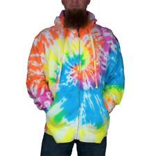 Tie Dye Mens Full Zip Hoodie