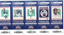 2014 CHICAGO CUBS PICK YOUR GAME SOLER BAEZ 100 ANNIVERSARY TICKET STUB 2nd HALF
