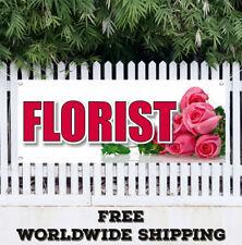 Banner Vinyl Florist Advertising Sign Flag Many Sizes rose flower shop