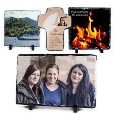 Schiefertafel mit Foto, vier Größen, mit Ihrem Foto bedruckt, Edles Geschenk
